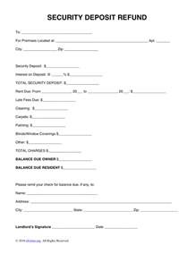 Rent Deposit Your Rights Free Security Deposit Return Letter Template Word Pdf
