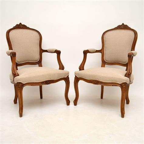 antique french armchairs pair of antique french salon armchairs loveantiques com