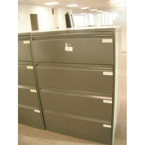 Knoll File Cabinets 4 Drawer Lateral File Cabinet Knoll Grey 30 Quot Wide Allsold Ca Buy Sell Used Office