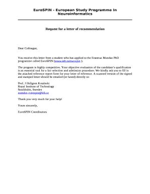 Letter Of Recommendation Kth personal letter of recommendation template forms
