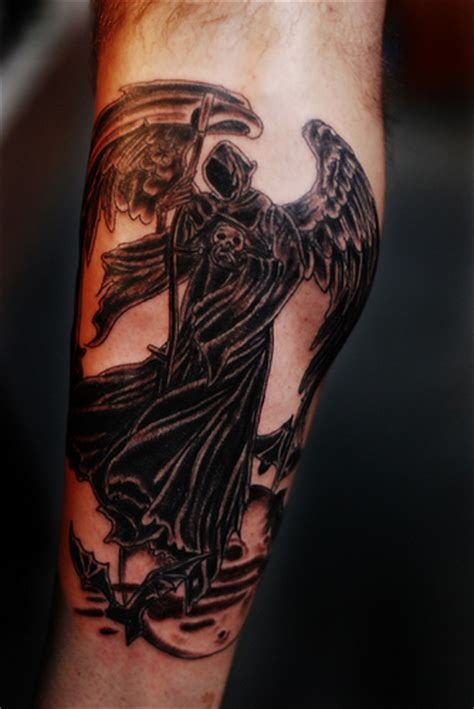 angel of death tattoo of tattoos exles and ideas