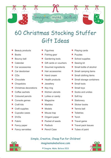 top 50 best stocking stuffer ideas for christmas 2017 christmas stocking stuffer ideas imagine make believe