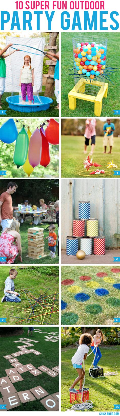 fun summer party ideas 10 super fun outdoor party games chickabug