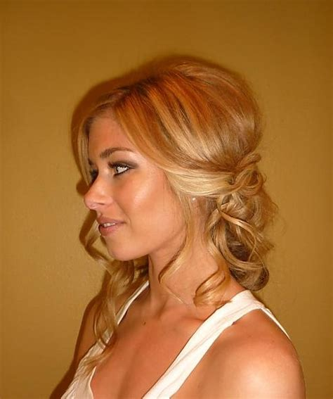 bridal hairstyles down to the side side swept bridal hairstyles for long hiar with veil half