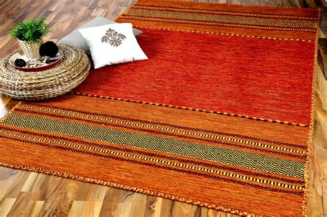 kelim teppich natur teppich kelim navarro terrakotta teppiche nepal