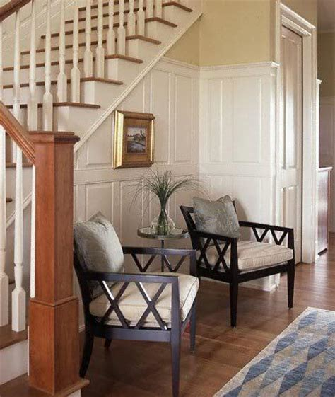 Entryway Seating Area Stairs Shelving Design Ideas