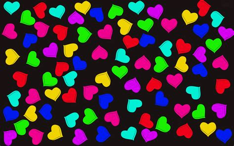 colorful love wallpaper hd 3d heart wallpaper wallpapersafari