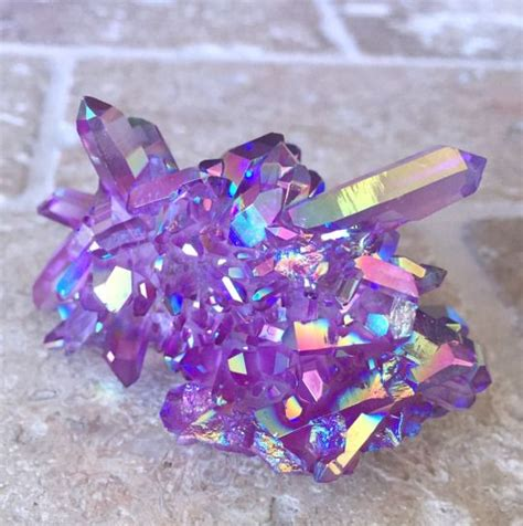 aura crystals purple galaxy aura quartz cluster gems pinterest