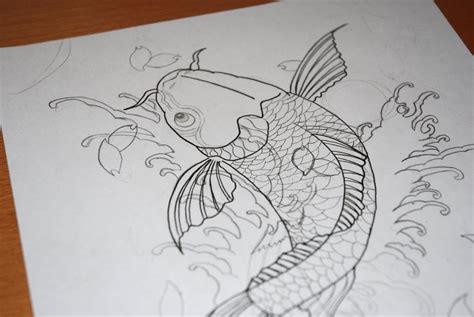 koi fish tattoo sketch koi fish tattoo sketch by jrsalido218 on deviantart