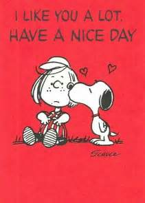 quot i like you a lot a day quot snoopy and peppermint patty on s day snoopy