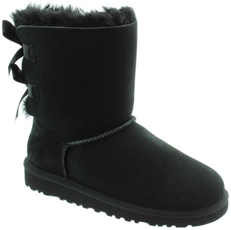 ugg boots black ugg bailey bow boots in black in black