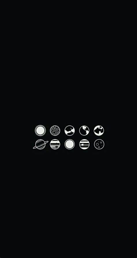 planet, wallpaper, and black image | Minimalist wallpaper
