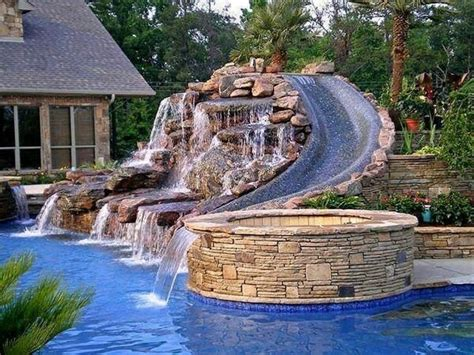 Backyard Pool Water Slides Water Slide For The Backyard Pool Design The Outdoors