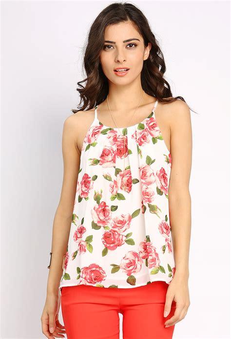 Floral Chiffon Top floral cami chiffon top shop dressy tops at papaya clothing