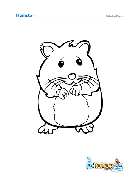 coloring page of hamster hamsters coloring pages free coloring pages cute hamster