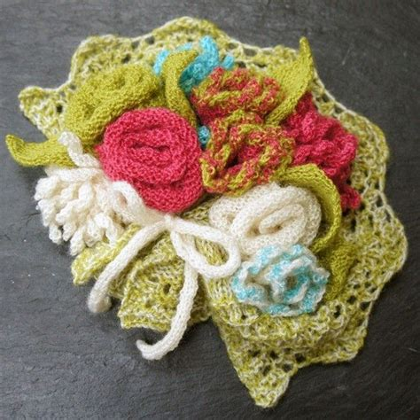 knitted flower bouquet 17 best images about crafting with flowers real