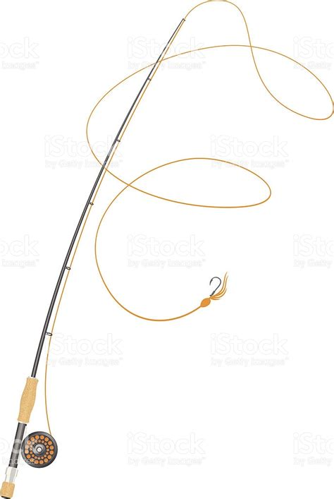 rod clipart fly fishing rod illustration
