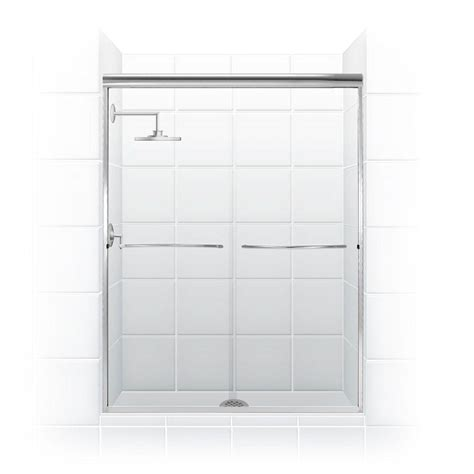 Trackless Sliding Shower Doors Schon Judy 60 In X 59 In Semi Framed Sliding Trackless Tub And Shower Door In Chrome With