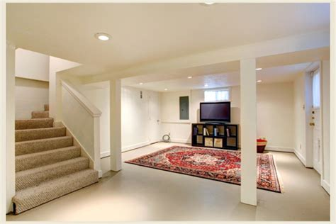 colorfully behr and functional basement spaces
