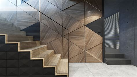 The Perfect Cool Modern Staircase Wall Design Ideas : Back