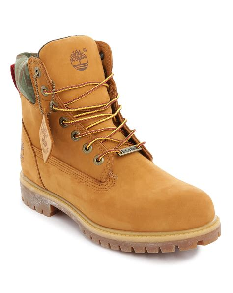 green timberland boots timberland camo ripstop 6 inch wheat nubuck boots in green