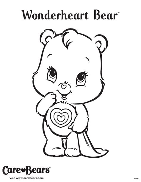 Wonderheart Bear Coloring Pages | pin by chandra o connell on carebears pinterest