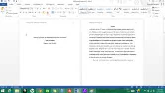 formatting apa style in microsoft word 2013 9 steps