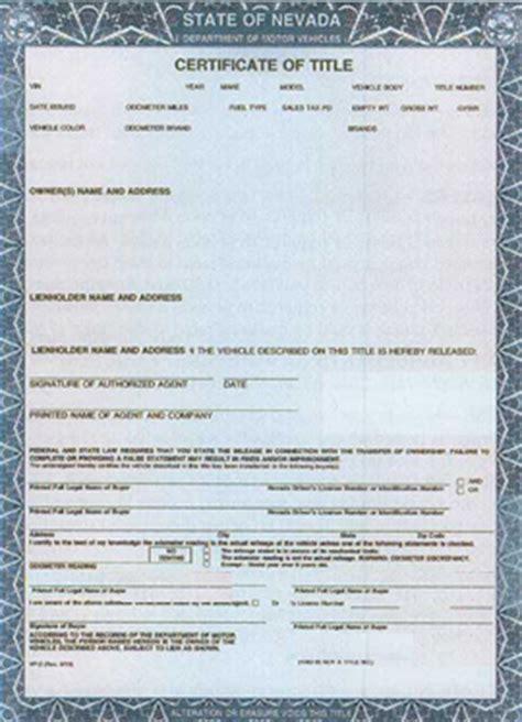 Nevada Auto Title Services   Auto Title   Bonded Title