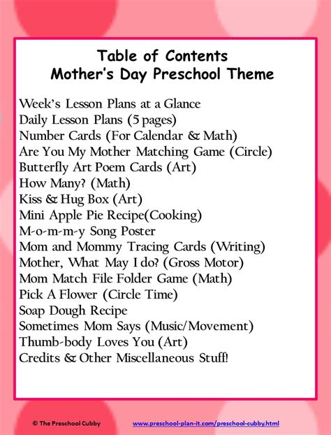 s day theme song mothers day preschool theme