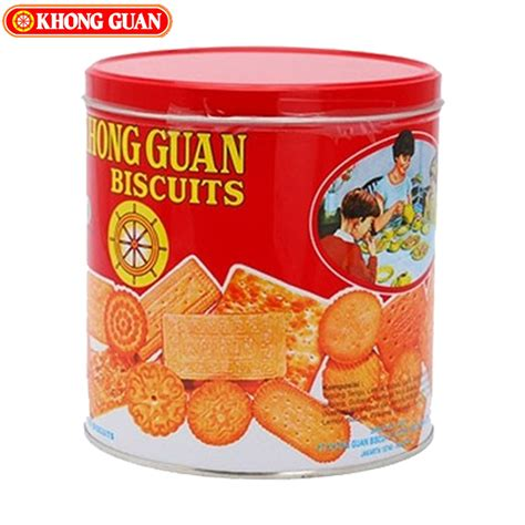 Assorted Mini 650 G 2 Kaleng khong guan biskuit assorted mini 650gr elevenia