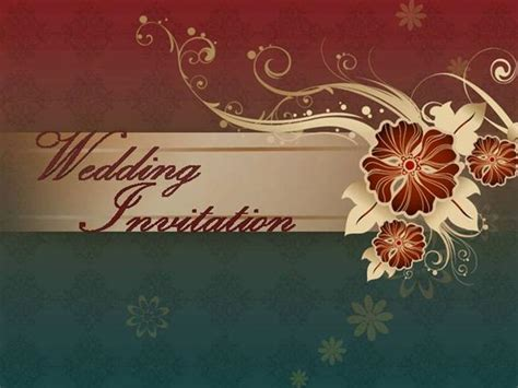 wedding invitation powerpoint templates free download