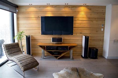 Banc Tv Bois 381 by Mur En Bois De Pruche Recherche Salon