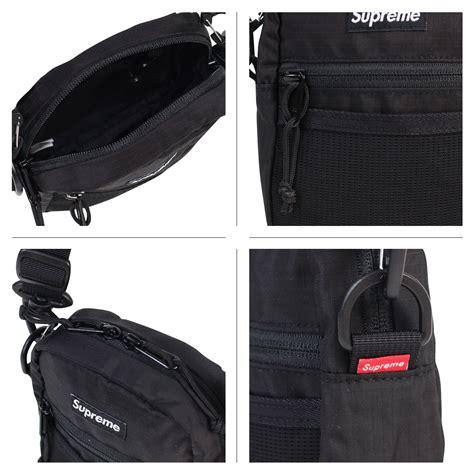 Supreme Cordura Shoulder Bag Black supreme box logo ss17 black small shoulder bag waist bag cordura backpack unisex ebay