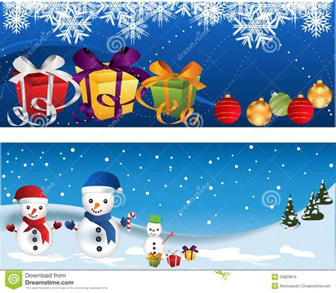 christmas banners stock vector image of bird gift berry