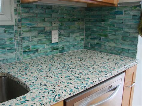 Sea Glass Kitchen Countertops contemporary kitchen countertops