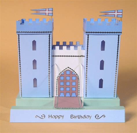 Castle Towers Gift Card - card craft card making templates opening 3d castle by card carousel