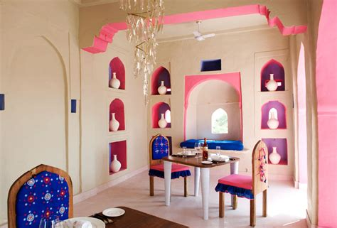 indian themed dining room lakshman sagar resort rajasthan haw magazine