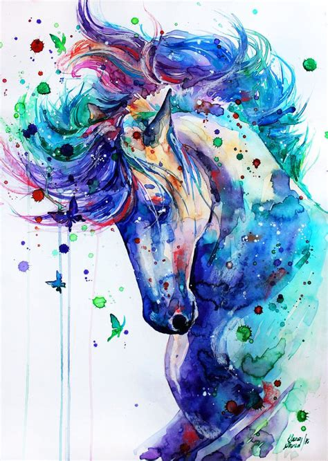 free unicorn painting best 25 watercolor ideas on