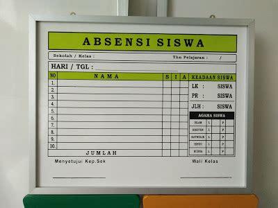 format absensi sekolah minggu papan data sekolah medan aceh perlengkapan papan data