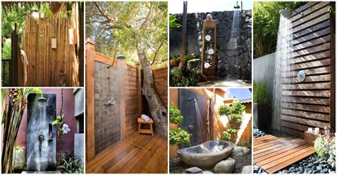 Garden Shower Ideas 20 Outdoor Shower Ideas That Will Up All Of Your Senses