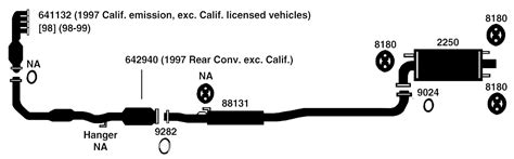 1997 Toyota Camry Exhaust System Diagram Toyota Camry Exhaust Diagram From Best Value Auto Parts