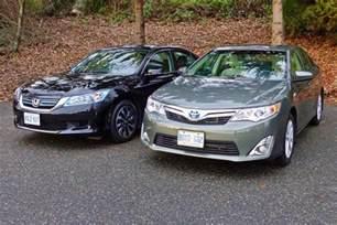 Toyota Camry Vs Honda Accord 2014 Honda Accord Hybrid Vs 2014 Toyota Camry Hybrid