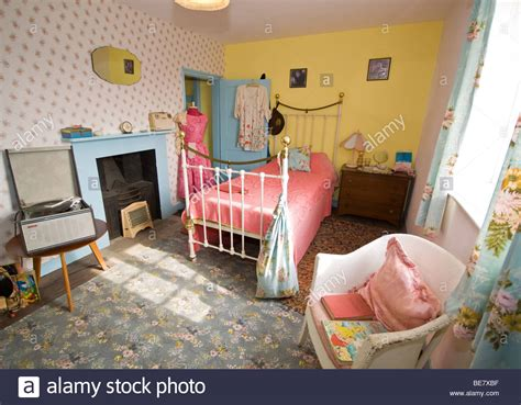 1950s bedroom 1950s style teenage bedroom stock photo royalty free