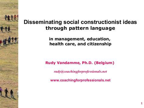 pattern language education vandamme taos disseminating social constructionist ideas