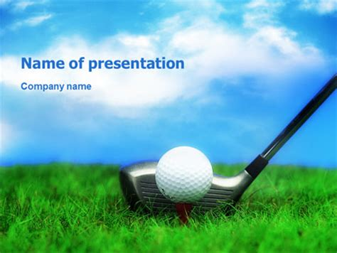 Golf Presentation Template For Powerpoint And Keynote Ppt Star Golf Powerpoint Template