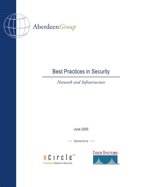 best practices in security network and infrastructure