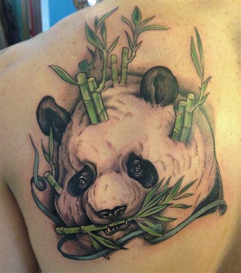 panda face tattoo panda bear face tattoo design on shoulder back