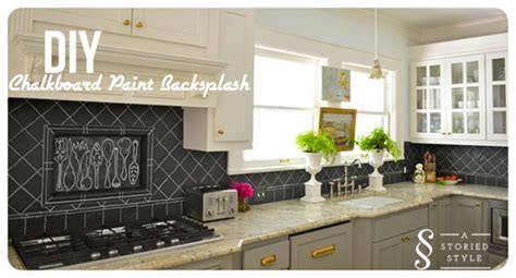 diy chalkboard backsplash 8 diy backsplash ideas to refresh your kitchen on a budget