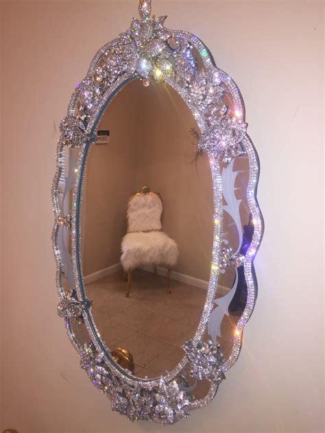 bling bathroom mirrors rhinestone encrusted wall mirror shops anna and rhinestones