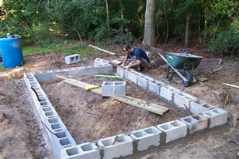 How To Build A Cinder Block Foundation For A Shed by Pioneer Cookery Building A Chicken Coop With Recycled